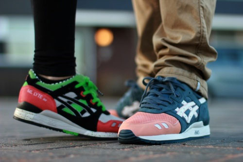 asics gel lyte 3 salmon toe