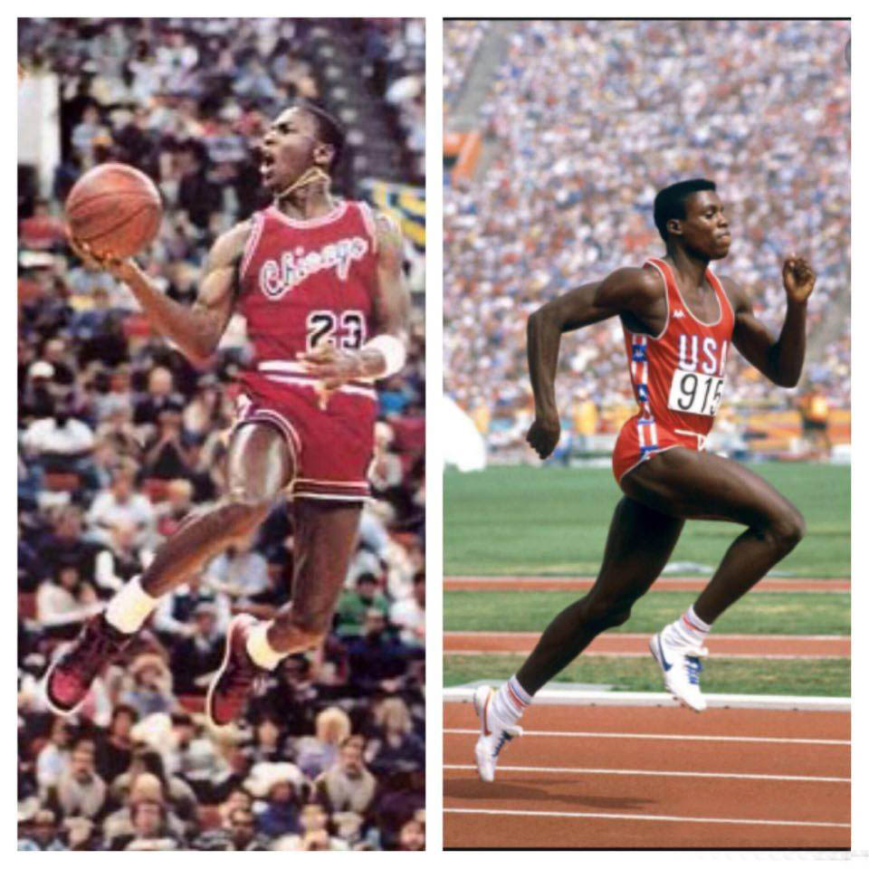 LE SAVIEZ-VOUS… Michael Jordan vs Carl Lewis